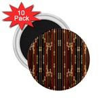 Floral Strings Pattern  2.25  Magnets (10 pack)  Front