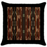 Floral Strings Pattern  Throw Pillow Case (Black) Front