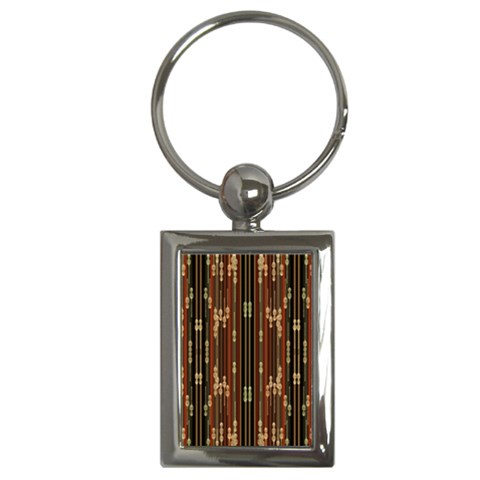 Floral Strings Pattern  Key Chains (Rectangle)