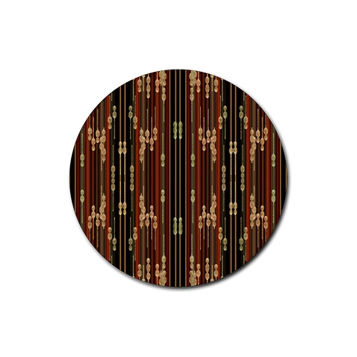 Floral Strings Pattern  Rubber Round Coaster (4 pack)