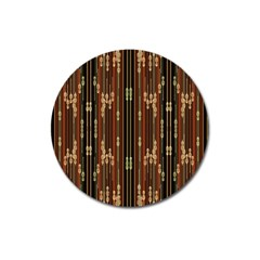 Floral Strings Pattern  Magnet 3  (Round)