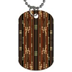 Floral Strings Pattern  Dog Tag (Two Sides) Front