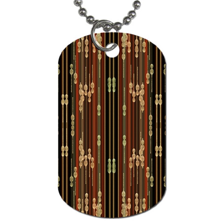 Floral Strings Pattern  Dog Tag (Two Sides)