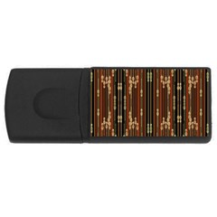 Floral Strings Pattern  USB Flash Drive Rectangular (1 GB)