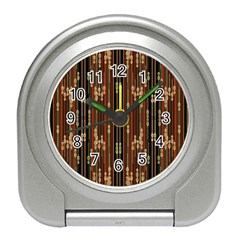 Floral Strings Pattern  Travel Alarm Clocks