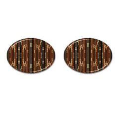 Floral Strings Pattern  Cufflinks (Oval)
