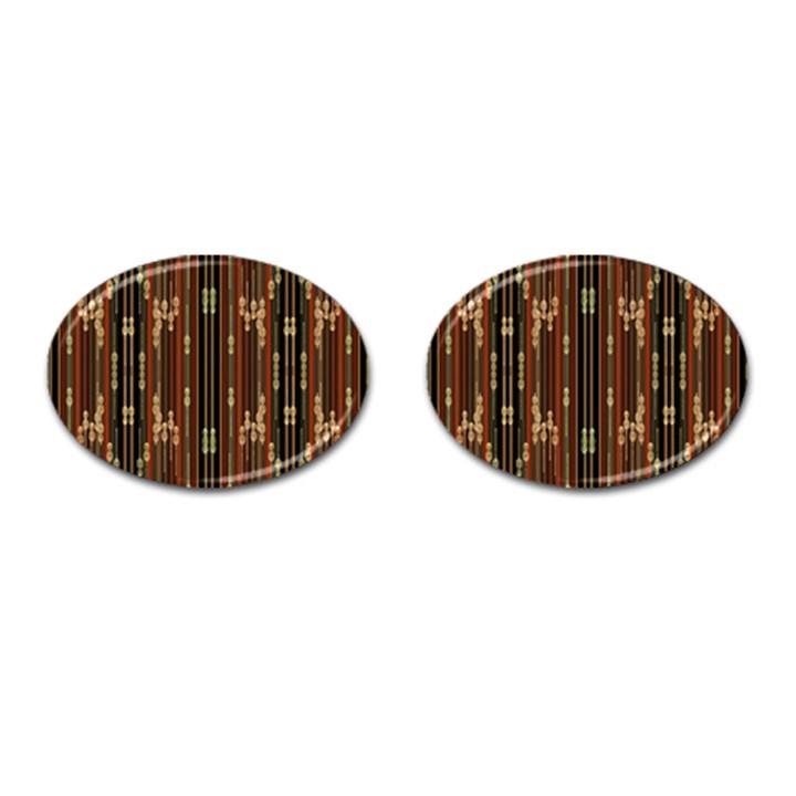 Floral Strings Pattern  Cufflinks (Oval)