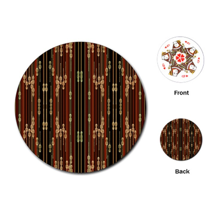 Floral Strings Pattern  Playing Cards (Round)