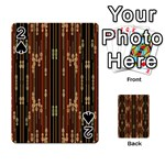 Floral Strings Pattern  Playing Cards 54 Designs  Front - Spade2