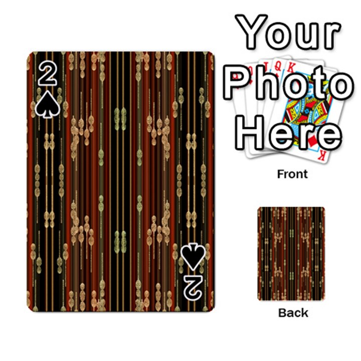 Floral Strings Pattern  Playing Cards 54 Designs