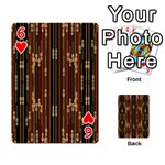 Floral Strings Pattern  Playing Cards 54 Designs  Front - Heart6