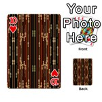 Floral Strings Pattern  Playing Cards 54 Designs  Front - Heart10