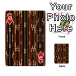 Floral Strings Pattern  Playing Cards 54 Designs  Front - HeartQ