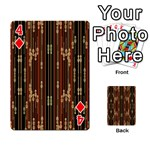 Floral Strings Pattern  Playing Cards 54 Designs  Front - Diamond4