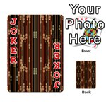 Floral Strings Pattern  Playing Cards 54 Designs  Front - Joker2