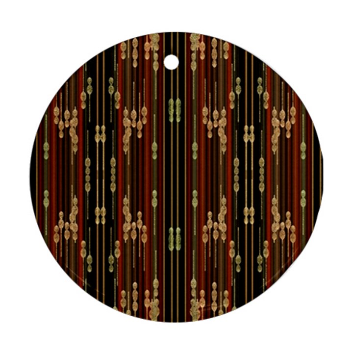 Floral Strings Pattern  Round Ornament (Two Sides)