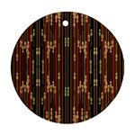 Floral Strings Pattern  Round Ornament (Two Sides)  Back