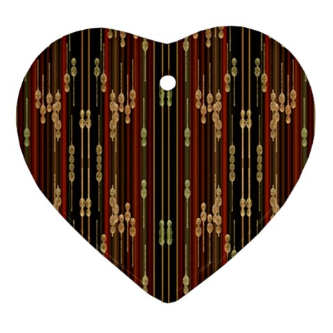 Floral Strings Pattern  Heart Ornament (2 Sides)