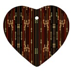 Floral Strings Pattern  Heart Ornament (2 Sides) Back