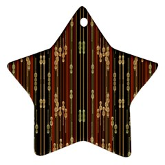 Floral Strings Pattern  Star Ornament (Two Sides)