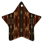 Floral Strings Pattern  Star Ornament (Two Sides)  Back