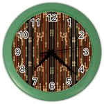 Floral Strings Pattern  Color Wall Clocks Front
