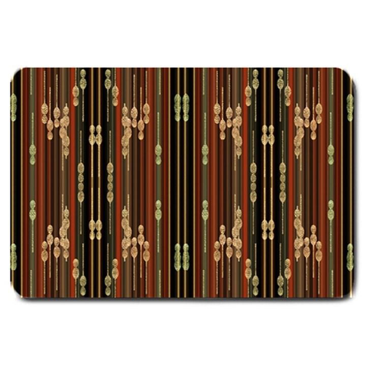 Floral Strings Pattern  Large Doormat