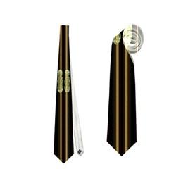 Floral Strings Pattern  Neckties (One Side)