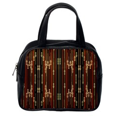 Floral Strings Pattern  Classic Handbags (One Side)