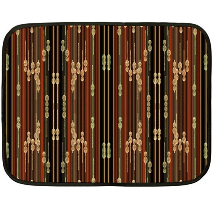 Floral Strings Pattern  Fleece Blanket (Mini)