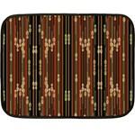 Floral Strings Pattern  Double Sided Fleece Blanket (Mini)  35 x27 Blanket Back