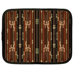 Floral Strings Pattern  Netbook Case (XL)