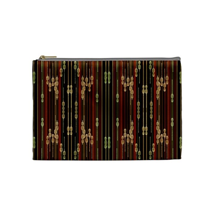 Floral Strings Pattern  Cosmetic Bag (Medium)