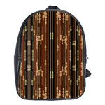 Floral Strings Pattern  School Bags(Large)  Front