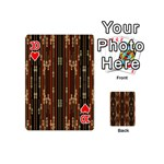 Floral Strings Pattern  Playing Cards 54 (Mini)  Front - Heart10