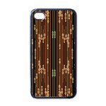 Floral Strings Pattern  Apple iPhone 4 Case (Black) Front