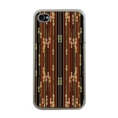 Floral Strings Pattern  Apple iPhone 4 Case (Clear)