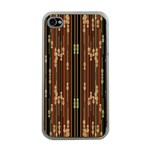 Floral Strings Pattern  Apple iPhone 4 Case (Clear) Front