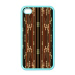 Floral Strings Pattern  Apple iPhone 4 Case (Color) Front