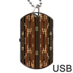 Floral Strings Pattern  Dog Tag USB Flash (One Side) Front