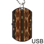 Floral Strings Pattern  Dog Tag USB Flash (Two Sides)  Back