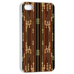 Floral Strings Pattern  Apple iPhone 4/4s Seamless Case (White)