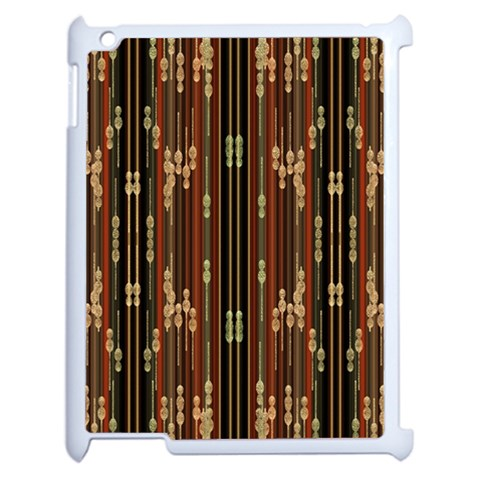 Floral Strings Pattern  Apple iPad 2 Case (White)
