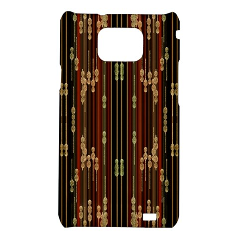 Floral Strings Pattern  Samsung Galaxy S2 i9100 Hardshell Case