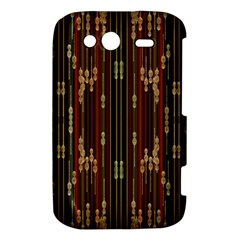 Floral Strings Pattern  HTC Wildfire S A510e Hardshell Case