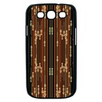 Floral Strings Pattern  Samsung Galaxy S III Case (Black) Front