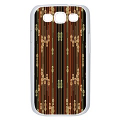 Floral Strings Pattern  Samsung Galaxy S III Case (White)