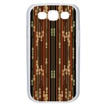 Floral Strings Pattern  Samsung Galaxy S III Case (White) Front