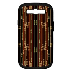 Floral Strings Pattern  Samsung Galaxy S III Hardshell Case (PC+Silicone)