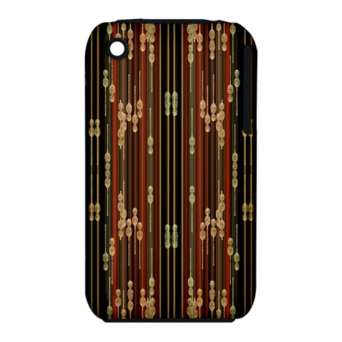 Floral Strings Pattern  Apple iPhone 3G/3GS Hardshell Case (PC+Silicone)